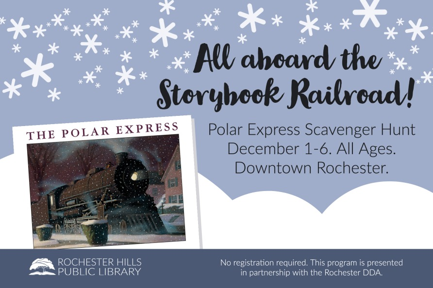 Polar Express Scavenger Hunt. All Ages. Dec 1-6. Downtown Rochester.