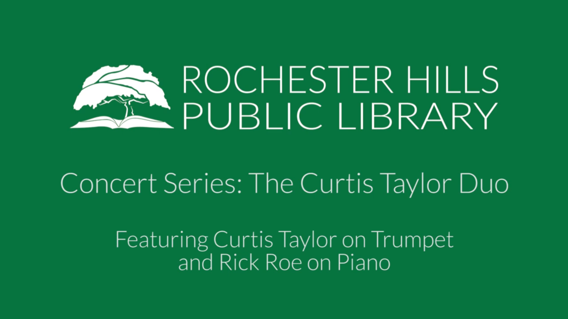 Concert Series: Curtis Taylor Duo