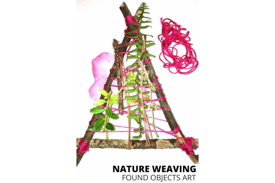 Nature Weaving Project with Found Object Art