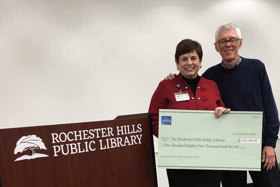 Friends Donate $185,000 to Rochester Hills Public Library